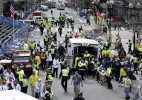 Aftermath of the 2013 Boston Marathon attack.  /AP