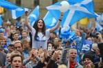 Scots favoring independence rally on Sept. 17. / Getty Images
