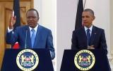 Kenya's President Uhuru Kenyatta, left, and U.S. President Barack Obma.