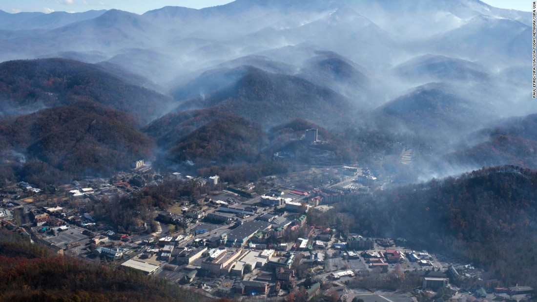 The toll of the Gatlinburg, Tennessee wildfires: 14 people dead, another 175 injured, and more than 2,400 houses, businesses and other structures destroyed.