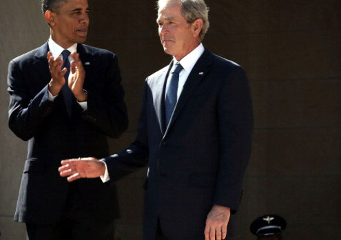 George W. Bush breaks his silence about Barack Obama