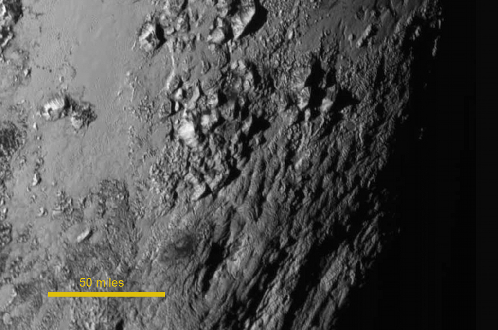 From Pluto with love: Towering ice mountains on a heart-shaped plain