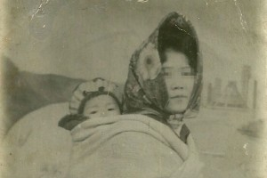 Hyeonseo Lee with her mother in North Korea.
