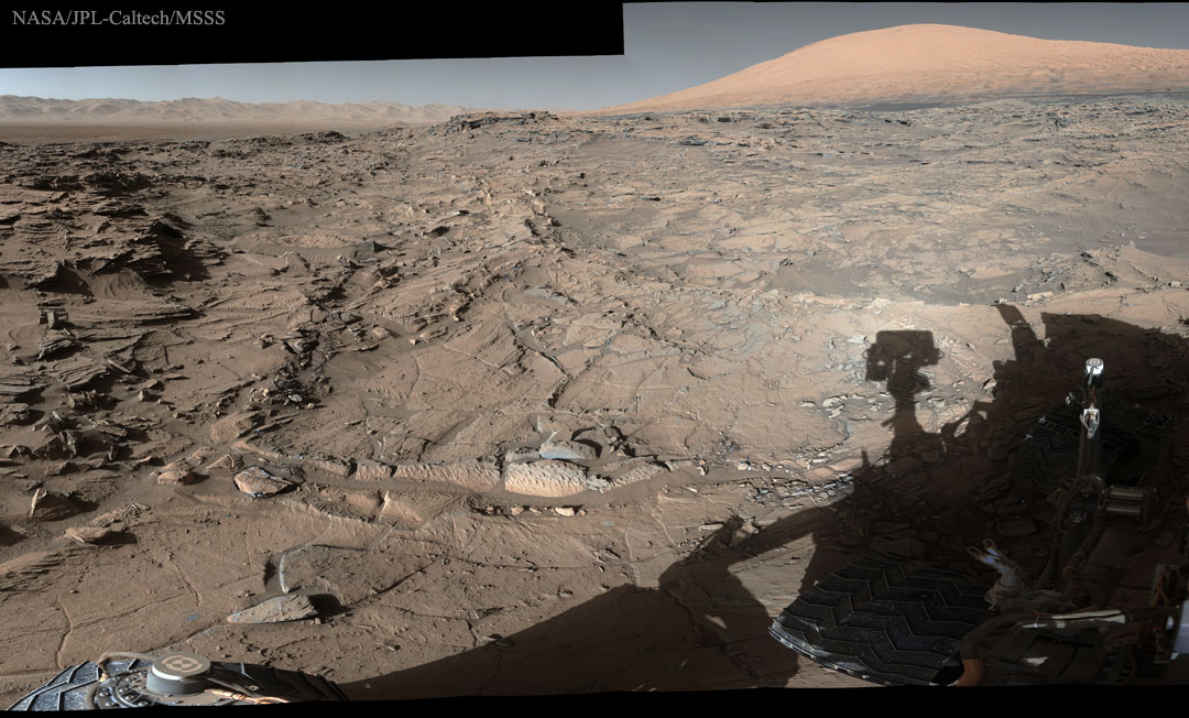 Meanwhile, on Mars it's just another day, but where does Curiosity go for a tire change?