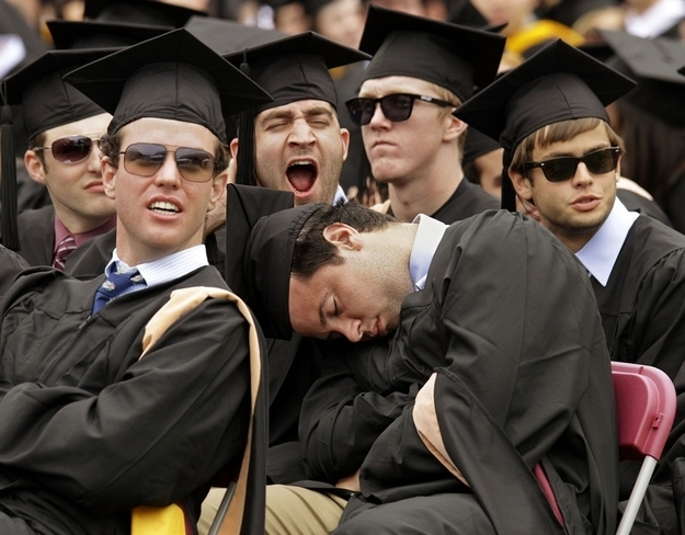 Advice to graduates: Doze off during the commencement speeches