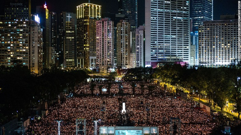 Tens of thousands in Hong Kong remember Tiananmen: 'The Communist Party is our common enemy'