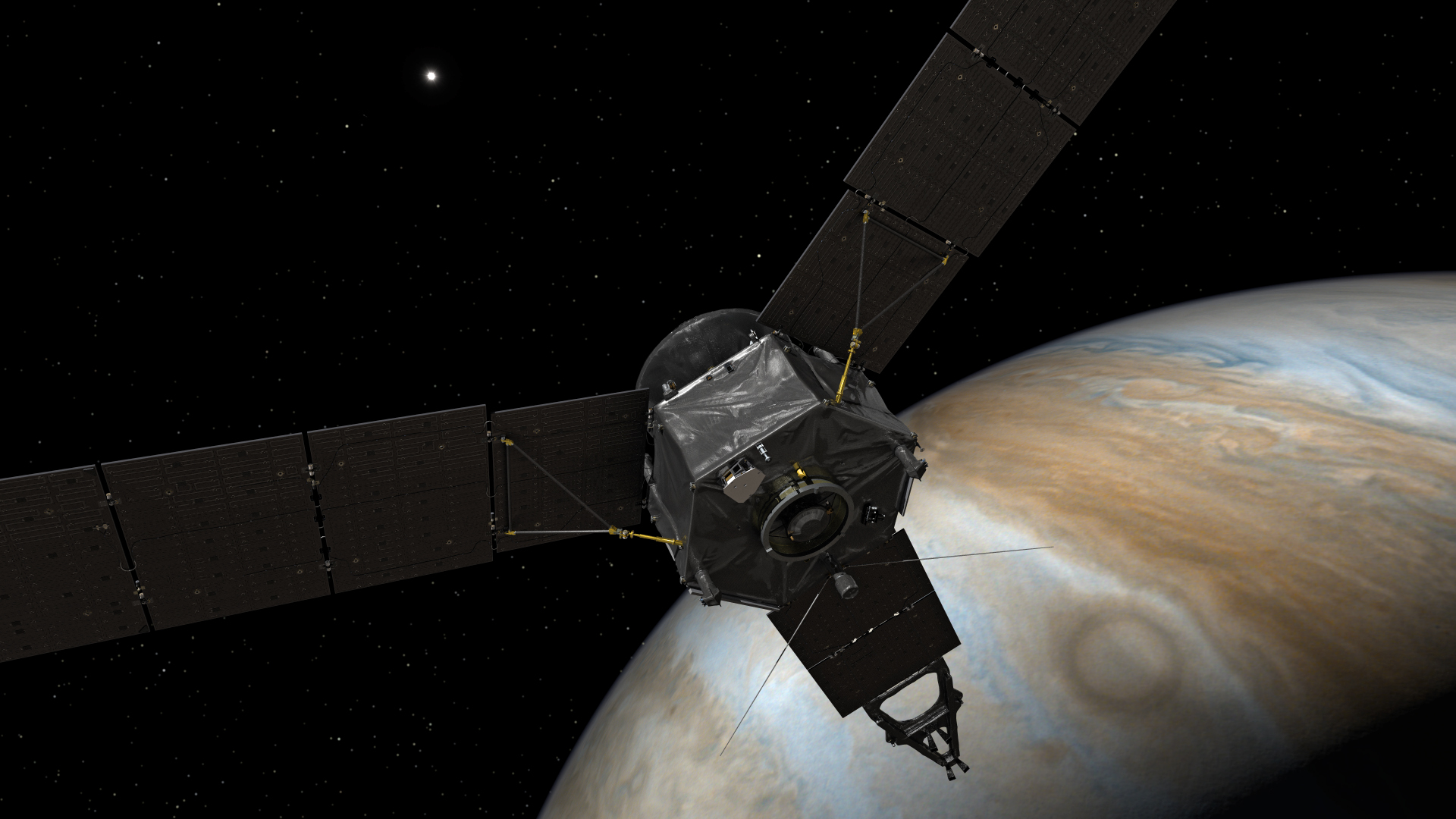 'Built like an armored tank', Juno swoops through debris, radiation in Jupiter's upper atmosphere