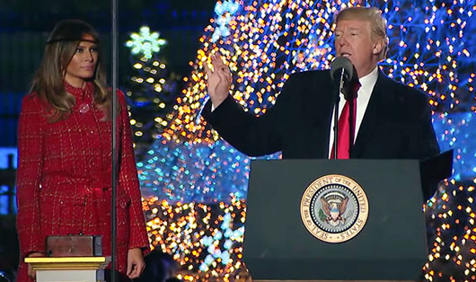 'A very merry Christmas' from a very politically incorrect American president!