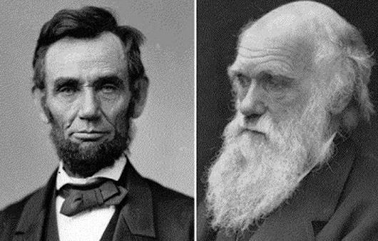 Born on the same day, Darwin and Lincoln had opposite views of man