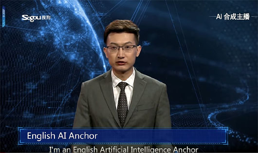 Xinhua introduces its AI anchor (China's 1.386 billion humans missed the cut)